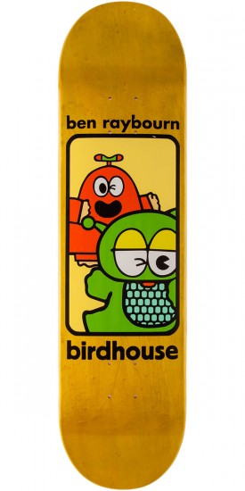 Birdhouse Raybourn Things Skateboard Deck - Yellow Stain - 8.125""