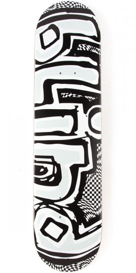Blind OG Warped HYB Skateboard Deck - Black/White - 7.75""