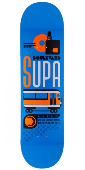 Boulevard Art Deco Supa Skateboard Decks - 8.0""
