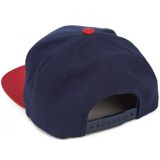 Brixton Rift Snapback Hat - Navy/Red