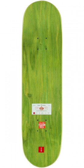 "Chocolate Alvarez Calling Card Skateboard Complete - 8.0"" - Green Stain"