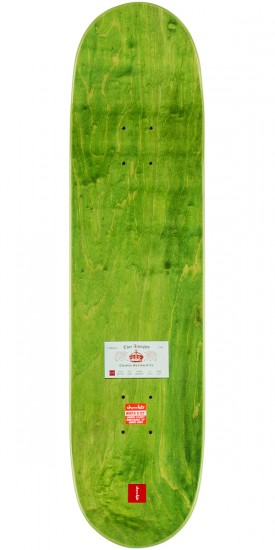 "Chocolate Anderson Calling Card Skateboard Deck - 8.125"" - Green Stain"