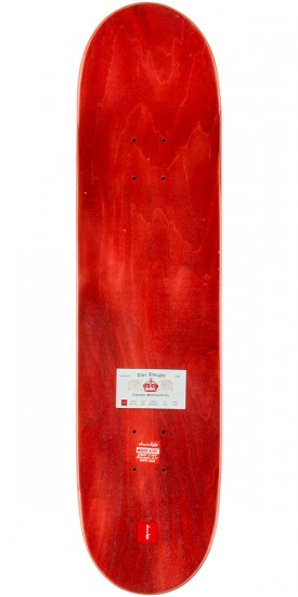 """Chocolate Berle Calling Card Skateboard Deck - 8.125"""" - Red Stain"""