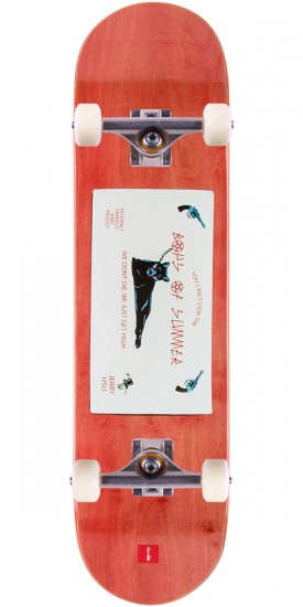 """Chocolate Hsu Calling Card Skateboard Complete - 8.0"""" - Red Stain"""