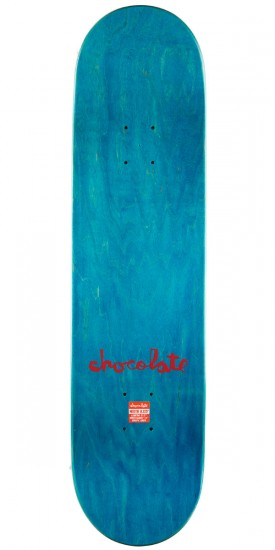 "Chocolate M. Johnson Tradiciones Skateboard Complete - 8.125"" - Teal Stain"
