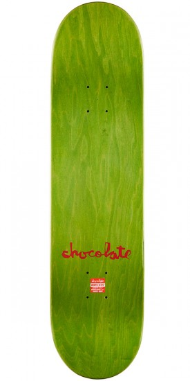 "Chocolate M. Johnson Tradiciones Skateboard Deck - 8.125"" - Green Stain"