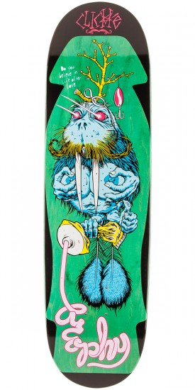 Cliche Brophy Walrus by Cliver R7 Skateboard Deck - Green Stain - 8.625""