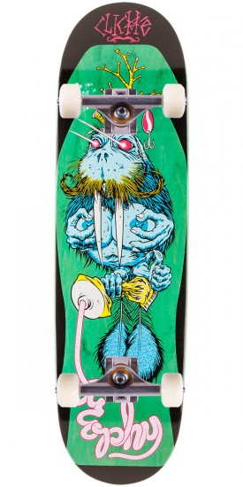 """Cliche Brophy Walrus by Cliver R7 Skateboard Complete - Green Stain - 8.625"""""""