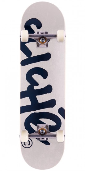 Cliche Handwritten Classic Skateboard Complete - Light Grey/Navy - 8.25""