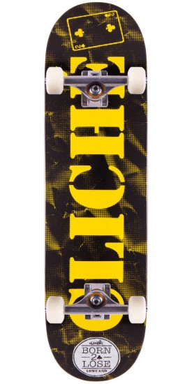 Cliche Lowcard Collab Skateboard Complete - Black / Yellow - 8.50""