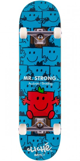 Cliche Mr. Men Impact Brophy Skateboard Complete - 8.125""