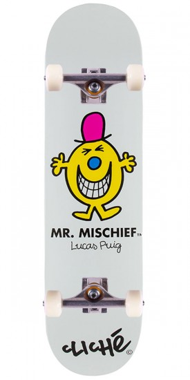 Cliche Mr. Men R7 Puig Skateboard Complete - 8.125""