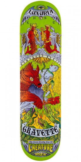 Creature David Gravette 7 Deadly Sins By Kozik Skateboard Deck - 8.00""