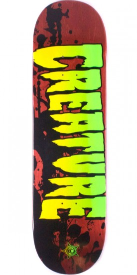 """Creature Stained Skateboard Deck - 8.60"""" - Blem"""