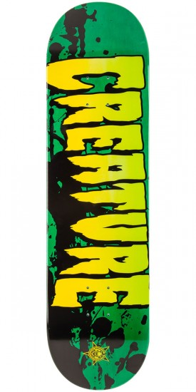 """Creature Stained Skateboard Deck - Green - 8.26"""""""