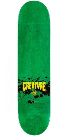 Creature Stained Skateboard Deck - Green - 8.26""