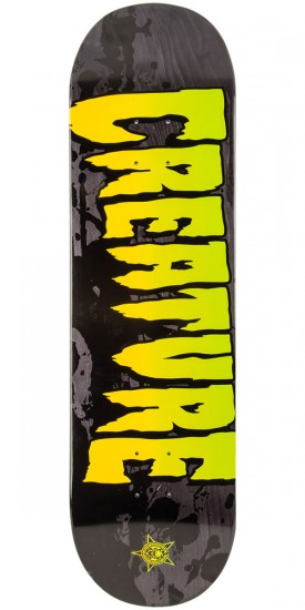 """Creature Stained Skateboard Deck - Grey - 8.6"""""""