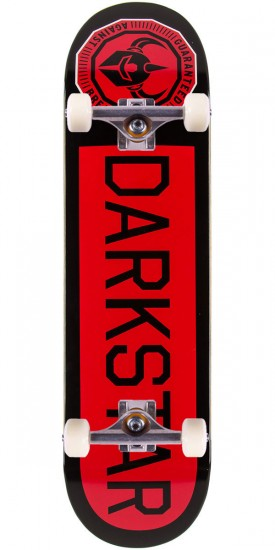 "Darkstar Timework SL Skateboard Complete - 8.25"" - Black/Red"