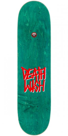 Deathwish Death Spray Skateboard Deck - Neon Green/Pink - 8.25""