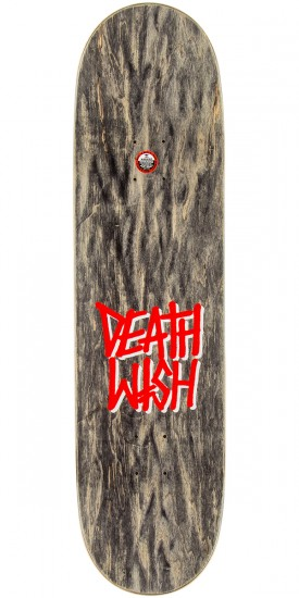 Deathwish Deathspray Skateboard Deck - Acid Black/Aqua - 8.5""