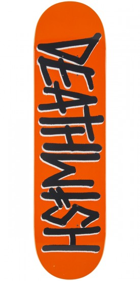 Deathwish Deathspray Skateboard Deck - Orange/Grey - 8.125""