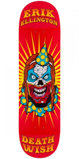 Deathwish Erik Ellington Clowns Skateboard Deck - 8.25""