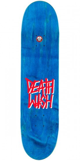 Deathwish Gang Logo Skateboard Deck - Grey Plaid - 8.00""