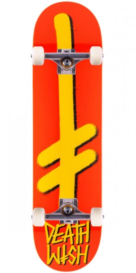 Deathwish Gang Logo Skateboard Complete - Orange/Yellow - 7.875""