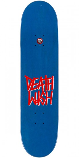 Deathwish Gang Logo Stain Skateboard Deck - Blue/Red - 7.875""