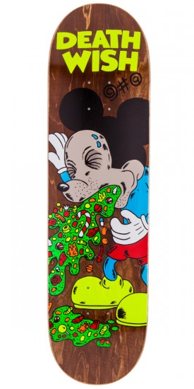 """Deathwish Greco Death Toons 2 Skateboard Deck - 8.25"""" - Brown Stain"""