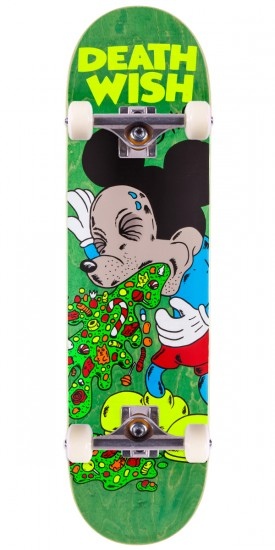 """Deathwish Greco Death Toons 2 Skateboard Complete - 8.25"""" - Green Stain"""