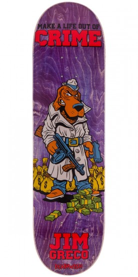 Deathwish Jim Greco Mascot Mayhem Skateboard Deck - Purple - 8.25""