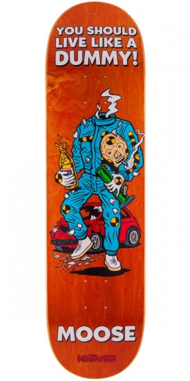 Deathwish Moose Mascot Mayhem Skateboard Deck - Orange - 8.38""