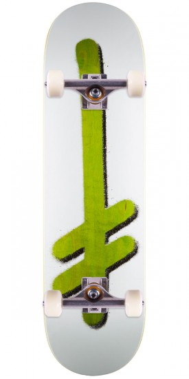 "Deathwish Original G Logo Punch Out Skateboard Complete - 8.50"" - Green Stain"