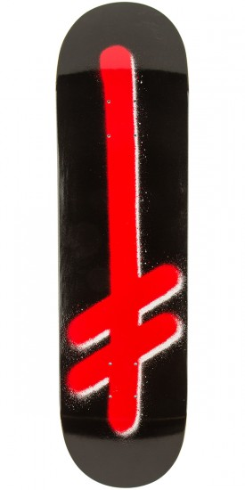 Deathwish Original G Logo Skateboard Deck - Black/Red - 8.475""