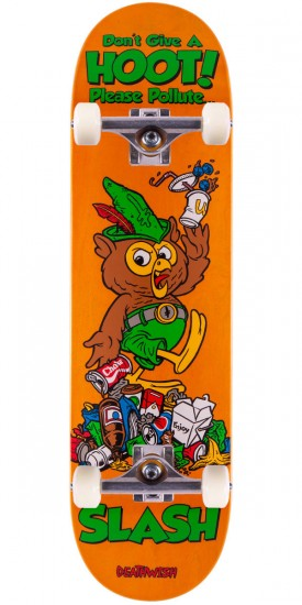 Deathwish Slash Mascot Mayhem Skateboard Complete - Orange Stain - 8.38""
