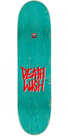 Deathwish Slash Mascot Mayhem Skateboard Complete - Yellow Stain - 8.38""