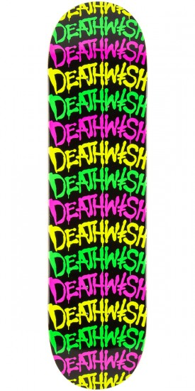 Deathwish Street Spray Stack Skateboard Deck - 7.875""