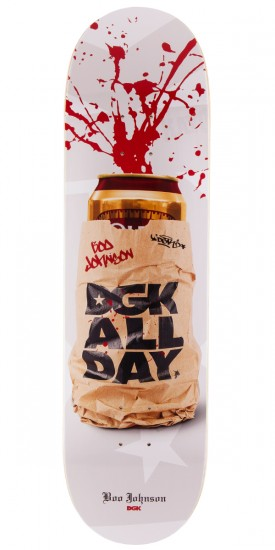 DGK Boo Johnson Spray Cans Skateboard Deck - 8.38""