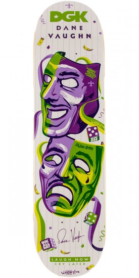 DGK Dane Vaughn Laugh Now Skateboard Deck - 7.8""