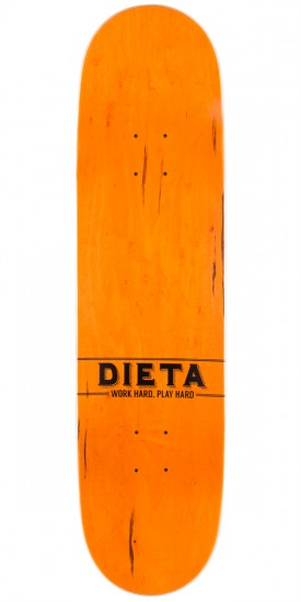 Dieta Woodgrain Logo Skateboard Deck - Brown - 8.25""