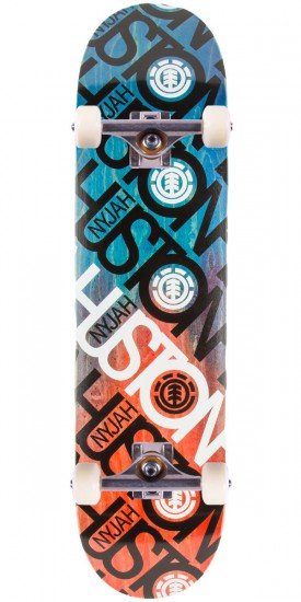 Element Nyjah Name Brand Skateboard Complete - 8.0""