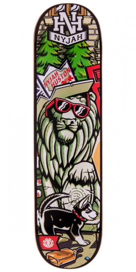 Element Nyjah Party Left Skateboard Deck - 7.75""