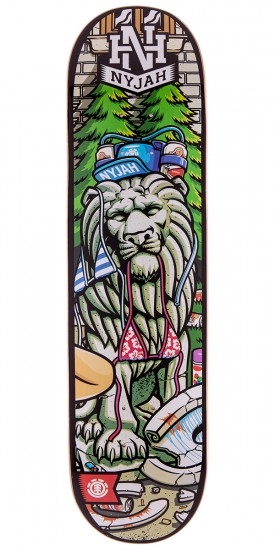 """Element Nyjah Party Right Skateboard Deck - 8.0"""""""