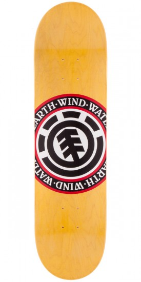 Element Varied Seal Skateboard Deck - Yellow Stain - 8.10""