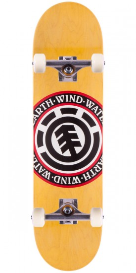 """Element Varied Seal Skateboard Complete - Yellow Stain - 8.10"""""""