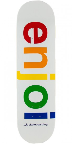 Enjoi Spectrum Skateboard Deck - White - 8.4""