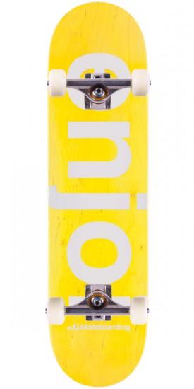Enjoi Sprayed Spectrum Skateboard Complete - Yellow - 8.00""