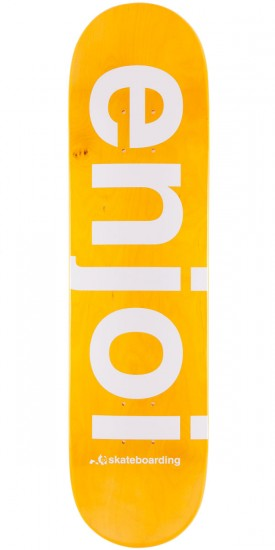 Enjoi Sprayed Spectrum Skateboard Deck - Orange - 7.75""