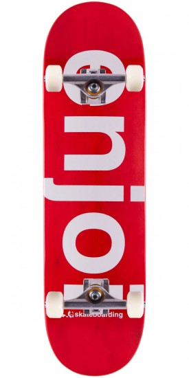 Enjoi Sprayed Spectrum Skateboard Complete - Red - 8.5""